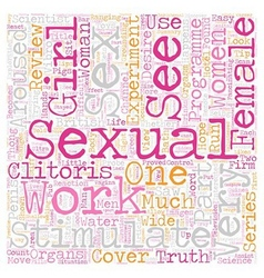 Did You See Truth About Female Desire Part text vector image vector image