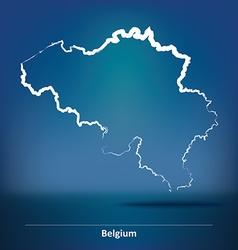 Doodle Map of Belgium vector image