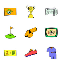 game icons set cartoon style vector image vector image
