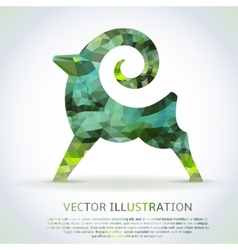 Geometric green shape of the Goat vector image vector image