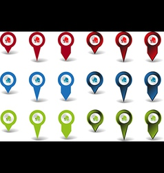Pointers houses vector image