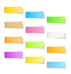 Ripped Sticky Papers vector image vector image