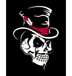 Skull in the Cylinder vector image vector image