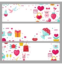Valentines day banner set Template with space for vector image vector image