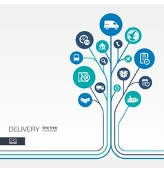 Abstract Delivery background Growth tree idea vector image vector image
