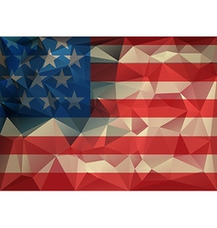 Abstract polygonal triangle USA flag background vector image