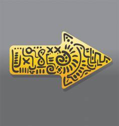 abstract yellow arrow vector image