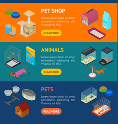 accessories for domestic pets banner horizontal vector image vector image