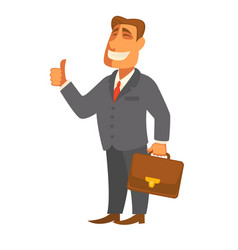 businessman man with file bag in hand flat vector image