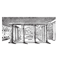 Pompeiian house built in the ancient city of vector