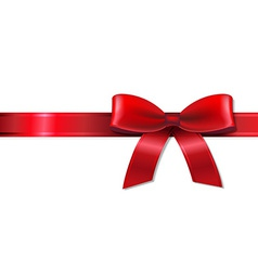 Red Bow With Ribbon vector image