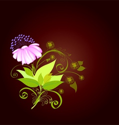 Background composition with a flower2 vector image vector image
