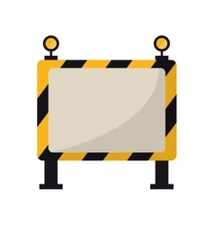 barricade safety maintenance work vector image