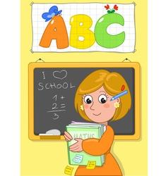 Cute school teacher vector image vector image