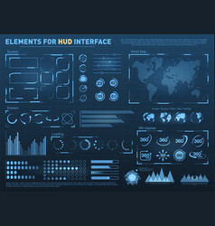 hud user interface with elements interactive vector image