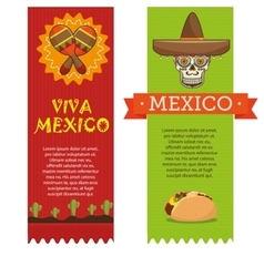 icons music food mexican design vector image vector image
