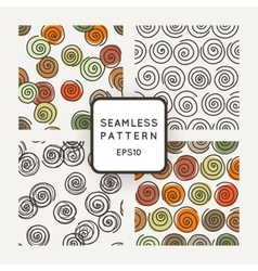 set of seamless geometric patterns of vector image vector image