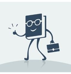 Symbol cheerful book vector image vector image