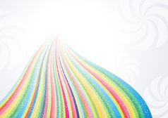 Abstract rainbow arrow banner vector image