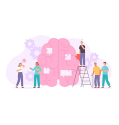 Alzheimer or dementia disease concept with elder vector