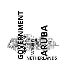 aruba government text background word cloud vector image