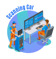 Auto scanning background vector