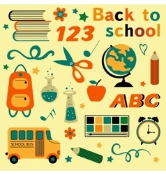 Back to school colorful collection vector