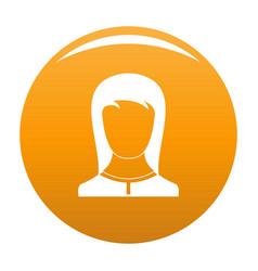 Best female avatar icon orange vector