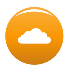 Bottom cloud icon orange vector