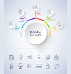 business concept scheme on vector image