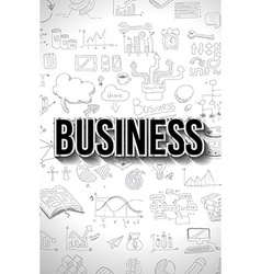 Business Concept with Doodle design style finding vector image