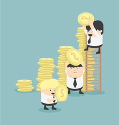 Businessmen make graph money vector