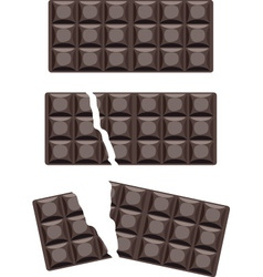 Chocolate bars vector