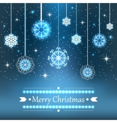 Christmas snowflakes background vector image