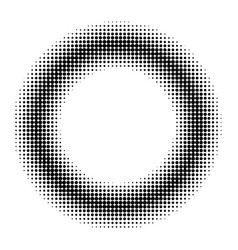 circle donut comic book manga halftone vector image