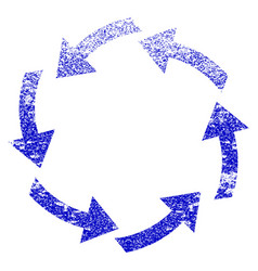 circulation grunge textured icon vector image