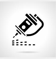 Cnc laser engraver glyph style icon vector