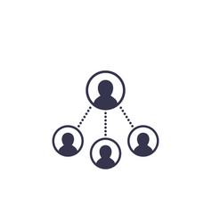 Delegation work icon vector