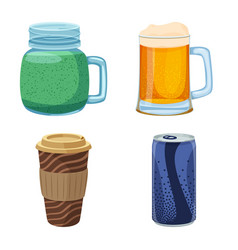 design of drink and bar icon set of drink vector image