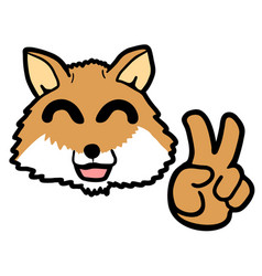 dog fox vector image