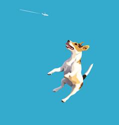 Dog-frisbee3 vector