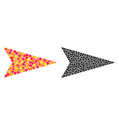 Dotted arrowhead right mosaic icons vector