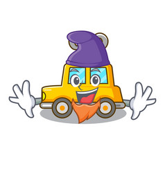 Elf character clockwork car for toy children vector