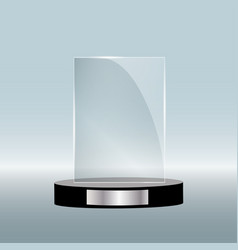Empty glass award isolated transparent trophy vector