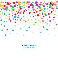 Falling colorful circles confetti celebration vector