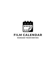film calendar logo design template vector image
