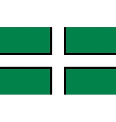 Flag of Devon vector