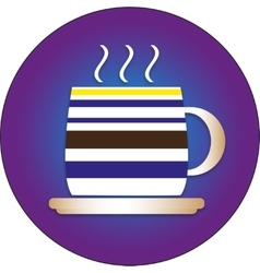 Flat icon for cafes with a cap and a plate vector
