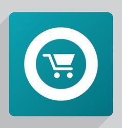 flat shopping cart icon vector image