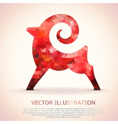 Geometric red shape of the Goat vector image